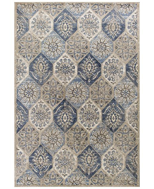 "Kas Seville Mosaic 9451 Pewter 3'3"" x 4'11"" Area Rug"