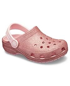 Toddler & Little Girls Classic Glitter Clog K