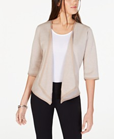 Alfani Petite Drape-Front Cardigan, Created for Macy's