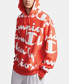 Champion Men's C-Life Giant Logo-Print Hoodie
