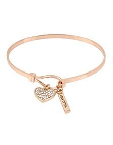 Pave Heart Charm Bracelet