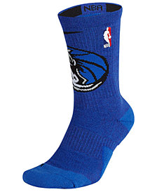 Nike Men's Dallas Mavericks Elite Team Crew Socks