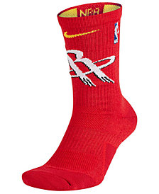 Nike Men's Houston Rockets Elite Team Crew Socks