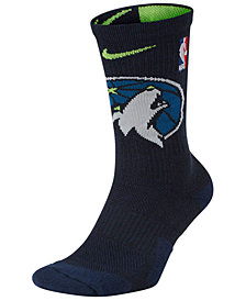 Nike Men's Minnesota Timberwolves Elite Team Crew Socks