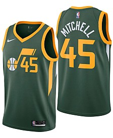 Nike Men's Donovan Mitchell Utah Jazz Earned Edition Swingman Jersey