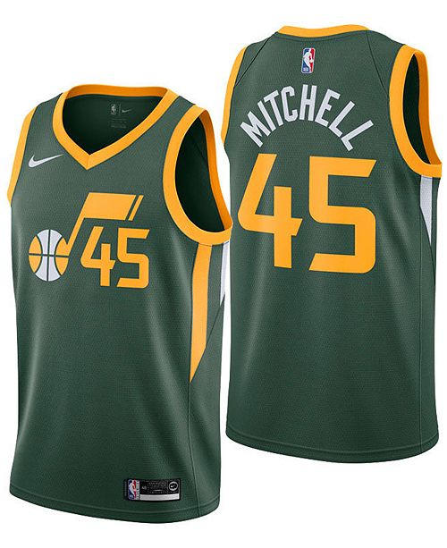 4f68def041e8 ... Nike Men s Donovan Mitchell Utah Jazz Earned Edition Swingman Jersey ...