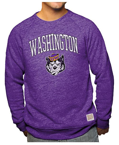 Retro Brand Men's Washington Huskies Softee Heather Crew Sweatshirt