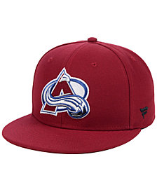 Authentic NHL Headwear Colorado Avalanche Basic Fan Fitted Cap