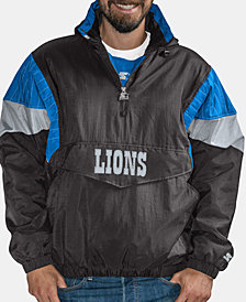 G-III Sports Men's Detroit Lions Throwback Nylon Front-Zip Jacket