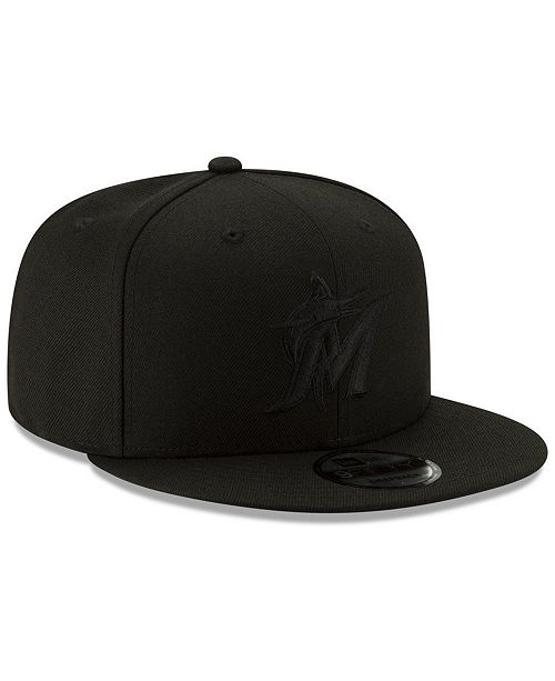 official shop size 7 new release pretty nice 10041 41372 new era miami marlins triple black 9fifty ...