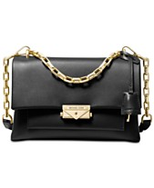 0d76e11ace47 MICHAEL Michael Kors Cece Polished Leather Chain Small Shoulder Bag
