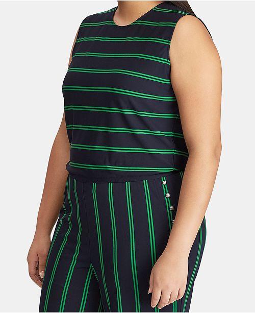 ed67ffc27974 Lauren Ralph Lauren Plus Size Striped Varsity-Inspired Jumpsuit ...