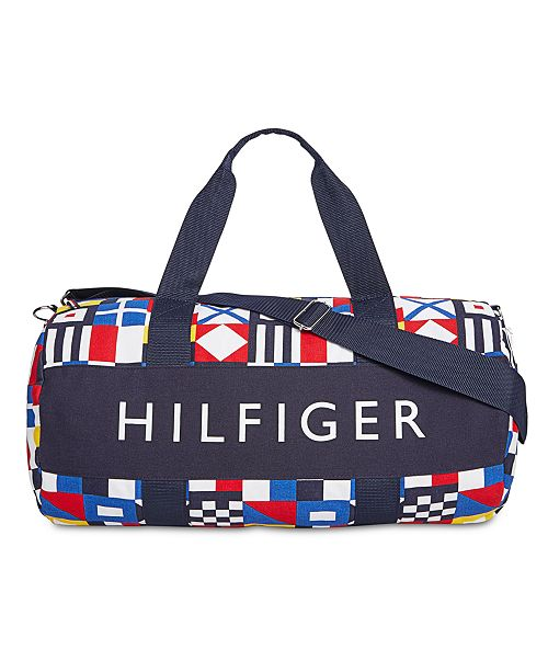 9059e47bfc ... Tommy Hilfiger Men's Tradewind HP Colorblocked Logo Duffel Bag, Created  for Macy's ...