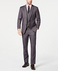 Men's Portfolio Slim-Fit Stretch Gray Solid Suit Separates