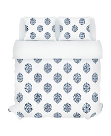 Faye Duvet Set, King, Indigo
