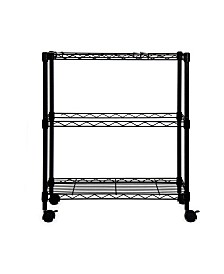 Oceanstar Portable 2-Tier Metal Rolling File Cart