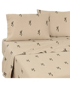 Browning Buckmark CA King Sheet Set