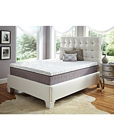 "12"" Comfort Loft Gray Rose with Ebonite King Memory Foam and Comfort Choice, Medium Firmness"