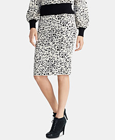 RACHEL Rachel Roy Leopard-Print Sweater Skirt, Created For Macy's