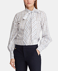 Lauren Ralph Lauren Plaid Cotton Shirt