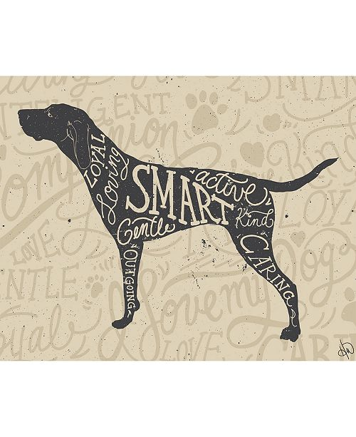 """Creative Gallery Traits of A Pointer Hunting Dog 16"""" x 20"""" Metal Wall Art Print"""