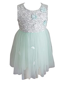 Little Girls Mint Tulle Dress