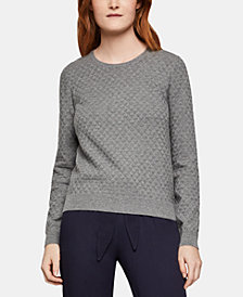 BCBGeneration Cotton Textured Sweater
