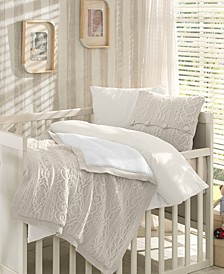 Boutique Premium 6 Piece Wool Blended Crib Bedding Set
