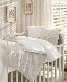 Boutique Premium 6 Piece Wool Blended Crib Bedding Set