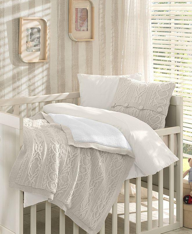 Nipperland Boutique Premium 6 Piece Wool Blended Crib Bedding Set