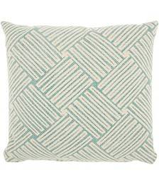 """Studio NYC Collection """"Basketweave"""" Mineral Throw Pillow by Mina Victory"""