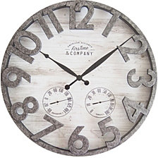 Firstime and Co. Shiplap Outdoor Wall Clock