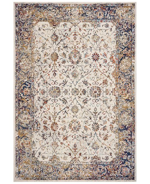 "Kas CLOSEOUT! Corsica Porter 7857 Ivory/Navy 3'3"" x 4'11"" Area Rug"