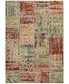 """KAS Reflections Patchwork 7420 Multicolor 7'10"""" x 11'2"""" Area Rug"""