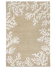 "Liora Manne' Capri 1620 Coral Border 5' x 7'6"" Indoor/Outdoor Area Rug"