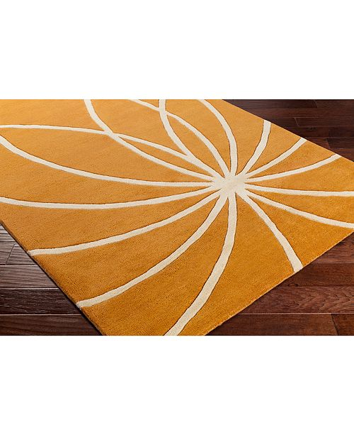 "Surya Forum FM-7175 Burnt Orange 18"" Square Swatch"