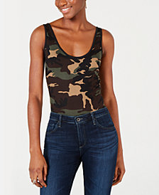 PROJECT 28 NYC High-Cut Camo-Print Bodysuit