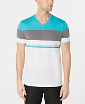 b043f1def18 Alfani Men s Textured Colorblocked V-Neck T-Shirt