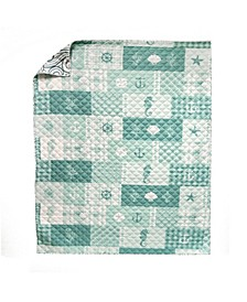 Seahorse Grid Quilt Collection, Accessories