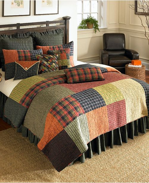 American Heritage Textiles Woodland Square Cotton Quilt Collection, King