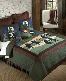Bear Dance Cotton Quilt Collection, King