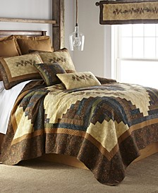 Cabin Raising Pine Cone Cotton Quilt Collection, King