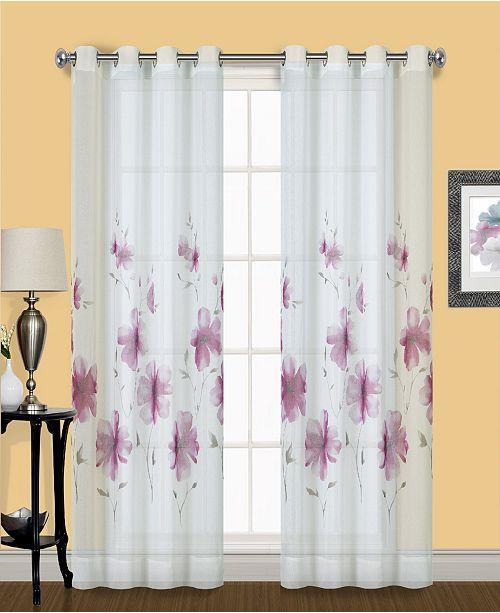"United Curtain Co Inc Monet 50"" X 63"" Window Panel"