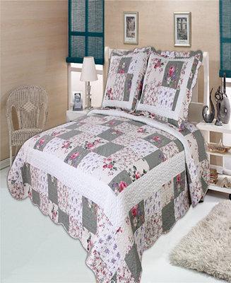 United Curtain Co Inc Weston Full Queen Quilt Set