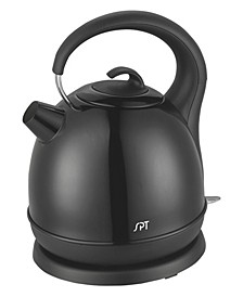 SPT 1.7L Stainless Cordless Kettle with Black Coating