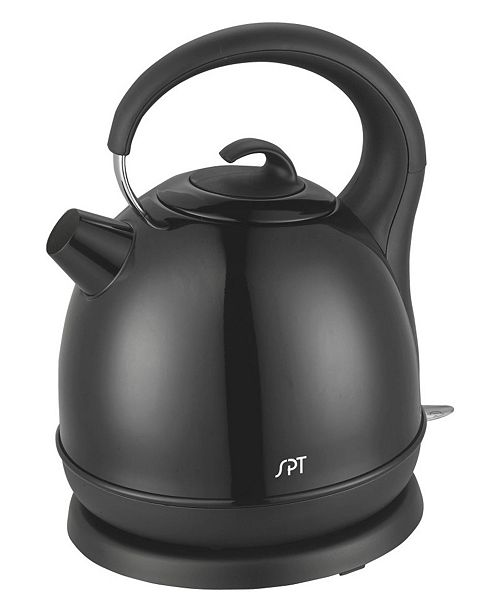 SPT Appliance Inc. SPT 1.7L Stainless Cordless Kettle with Black Coating