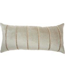 Inspire Me! Home Decor Pleated Stripes Beige Throw Pillow