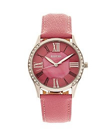 Bertha Quartz Sadie Pink Genuine Leather Watch, 36mm