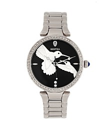 Bertha Quartz Nora Silver Stainless Steel Watch, 38mm