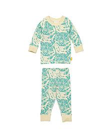 Masala Baby Organic Cotton Kids Long sleeve Pajamas Cat Camo